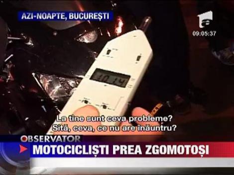 180 motociclisti au fost amendati in Bucuresti pentru motoare zgomotoase