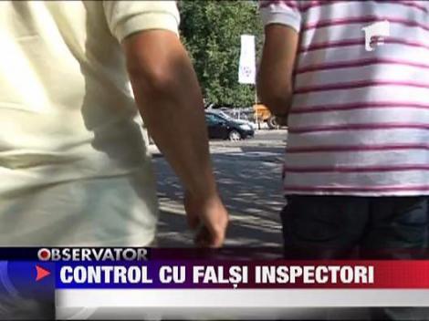 Falsi inspectori in control prin Bucuresti