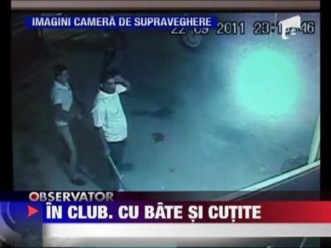 Scandal cu bate si cutite intr-un club din Baia Mare