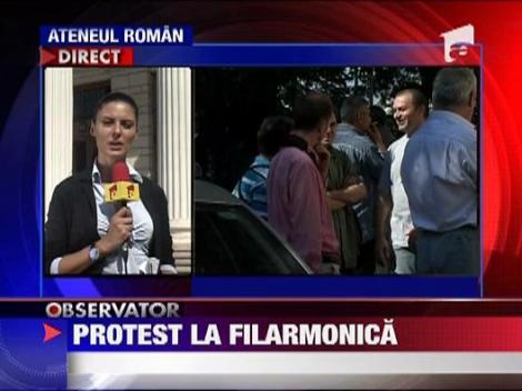 Protest la Filarmonica George Enescu din Bucuresti
