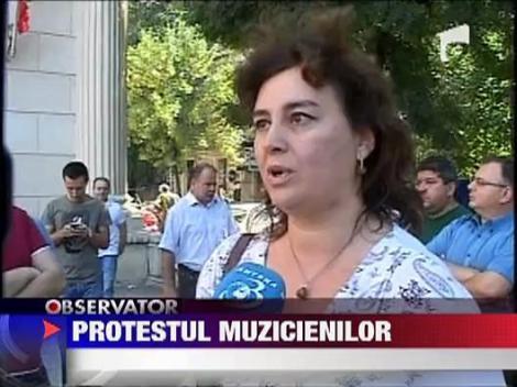 UPDATE / Protest la Filarmonica George Enescu din Bucuresti