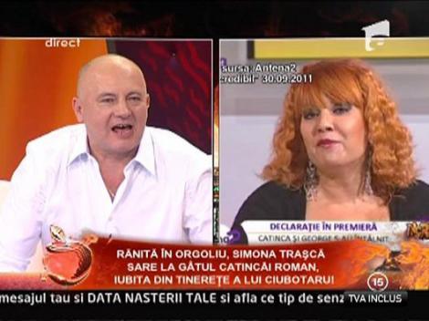"George Ciubotaru: ""Catinca Roman nu a vrut sa o jigneasca pe Simona"""