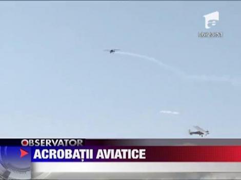 Acrobatii aviatice la Baia Mare