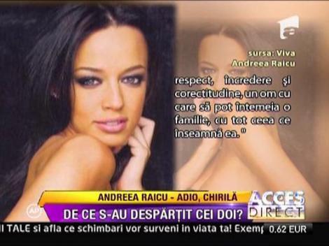 Andreea Raicu s-a despartit de Tudor Chirila