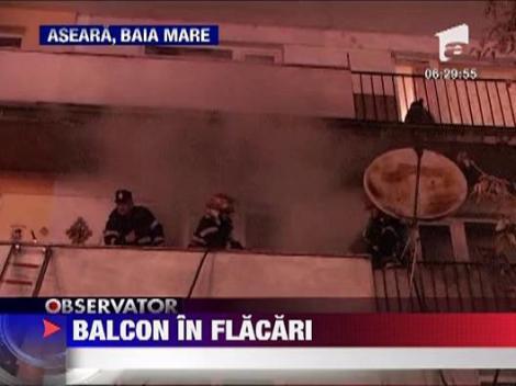 Balcon in flacari la Baia Mare