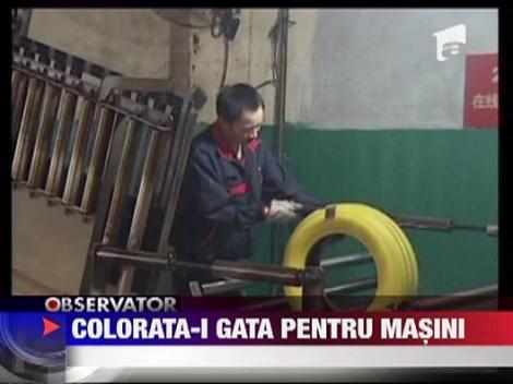 O companie chineza a produs primele cauciucuri colorate