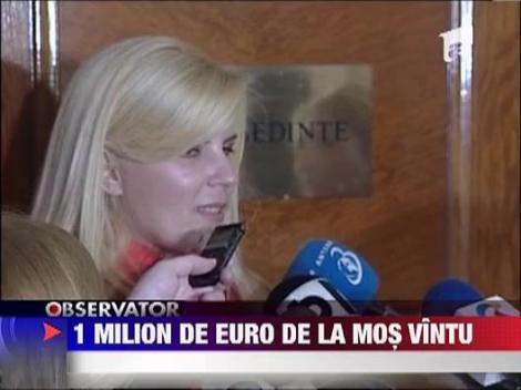 Elena Udrea a primit in avans darul de Sarbatori