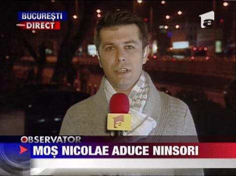 Mos Nicolae aduce ninsori