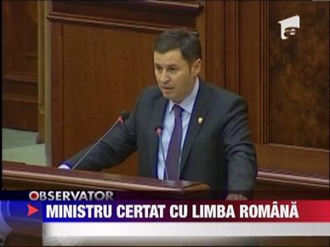 Ministru certat cu limba romana