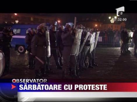 Sarbatoare cu proteste in Varsovia