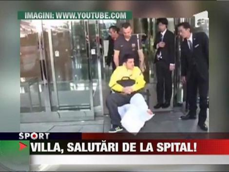 David Villa, salutari din spital