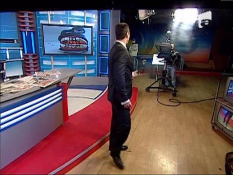Mircea Badea danseaza pe rupte in platoul emisiunii In gura presei