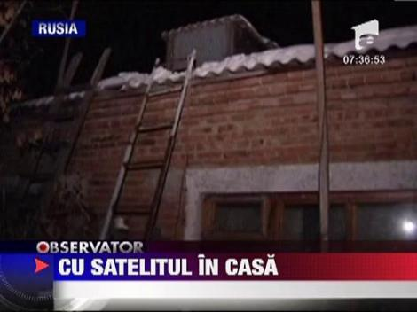 Un satelit scapat de sub control a cazut pe strada Cosmonautilor!