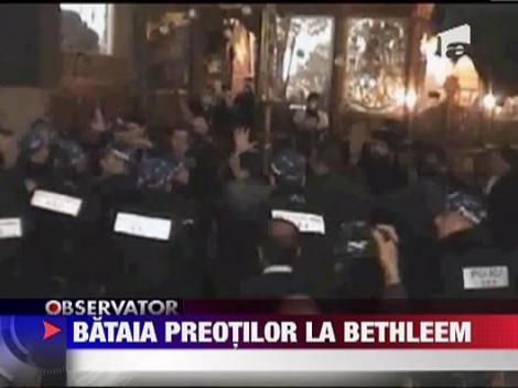Preotii armeni si grecii ortodocsi s-au luat la bataie in Biserica Nasterii Domnului din Betleem