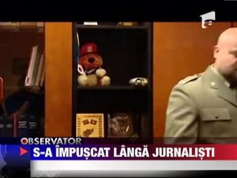 Un procuror s-a impuscat langa jurnalisti