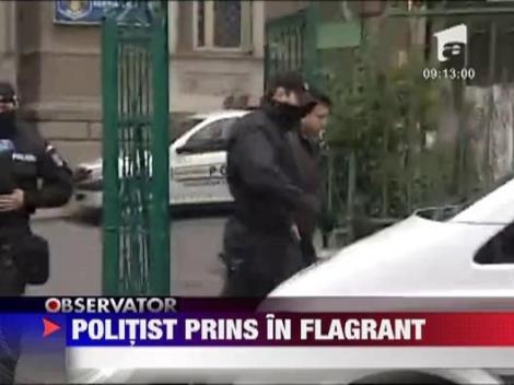 Buftea: Politist prins in flagrant in timp ce lua mita de la un sofer