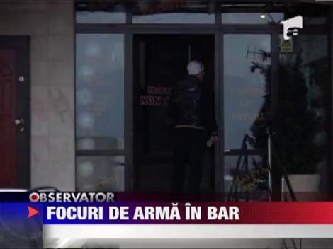 Scandal cu focuri de arma intr-un bar din Alba
