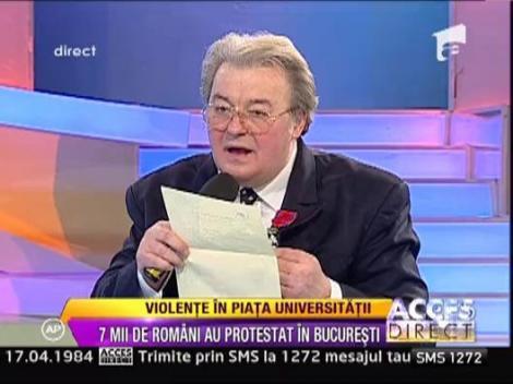 """Vadim Tudor: """"Riscam sa iesim din Uniunea Europeana din cauza lui Basescu"""""""