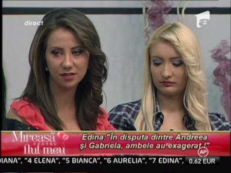 Andreea afectata de conflictul dintre ea si Gabriela