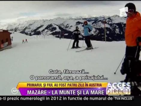 Radu Mazare, vacanta la schi in Austria