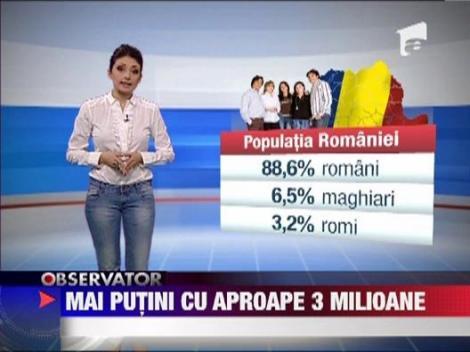 Populatia Romaniei a scazut cu 2,6 milioane de locuitori in 10 ani