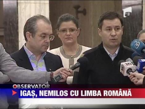 Ministrul de Interne, Traian Igas, nemilos cu limba romana