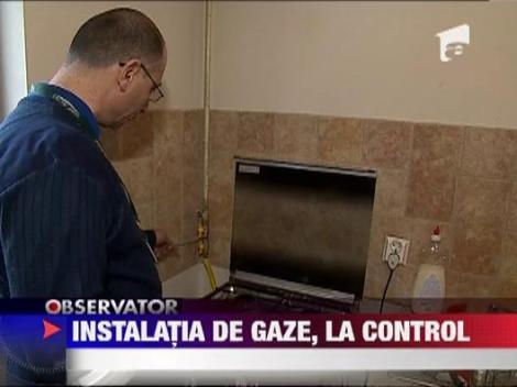 Instalatia de gaze, la control
