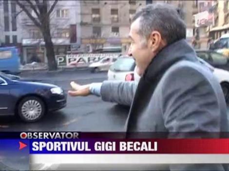 Gigi Becali, circ la iesirea din sala de judecata