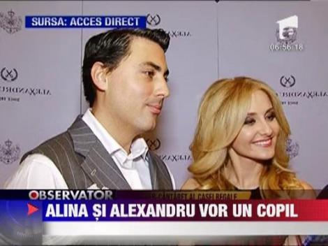 Alina Sorescu si Alexandru Ciucu vor sa devina parinti