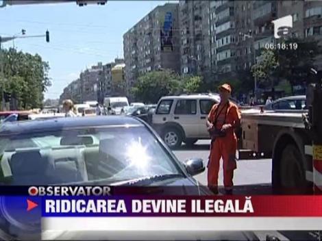 Ridicarea masinilor parcate neregulamentar va fi ilegala