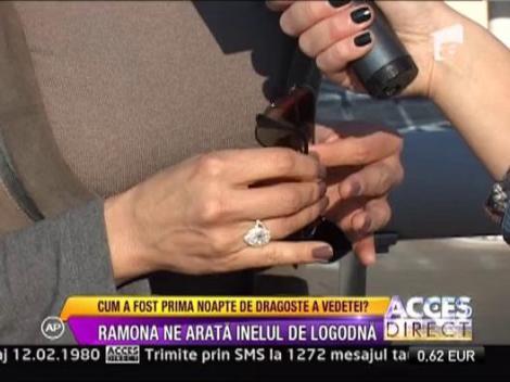Ramona Badescu a primit un inel de logodna