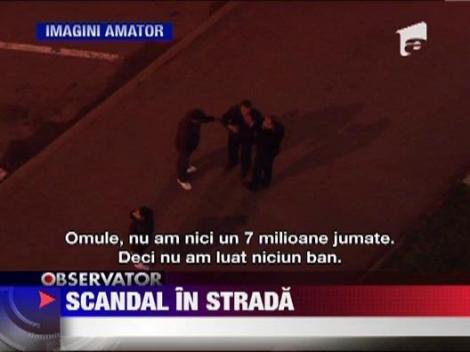 Scandal cu pumni si palme in centrul orasului Baia Mare