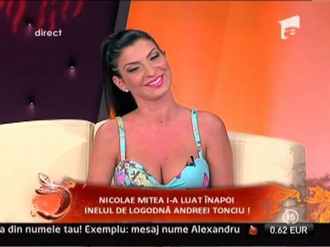 Andreea Tonciu s-a certat cu Nicolae Mitea