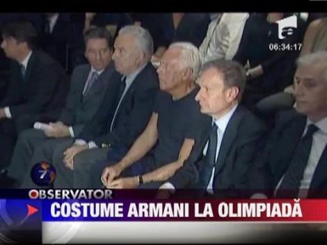 Costume Armani pentru sportivii Italiei la Olimpiada