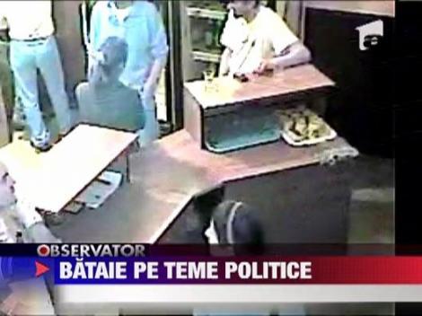 IMAGINI SOCANTE! / Cei 4 indivizi care au batut o angajata a unui bar au fost retinuti