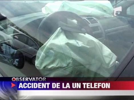 Accident de circulatie din cauza unui telefon