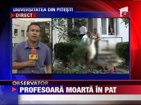 O profesoara din Pitesti, gasita moarta in pat