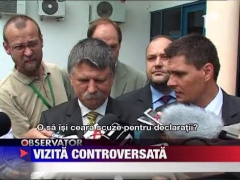 Presedintele Parlamentului de la Budapesta, vizita controversata in Romania