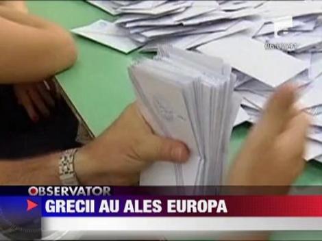 Grecii au ales sa ramana in Uniunea Europeana