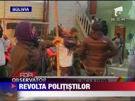 Revolta politistilor din Bolivia s-a lasat cu violente