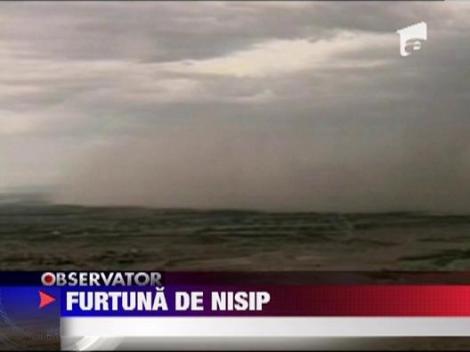 Furtuna de nisip spectaculoasa, in Phoenix