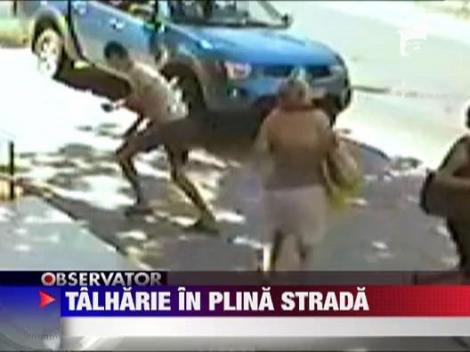 Talharie in plina strada