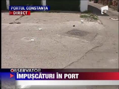 Barbat de origine araba impuscat in cap, in Portul Constanta