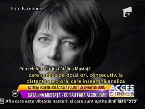 Catalina Mustata sustine ca nu a consumat alcool, ci doar a folosit un spray de gura