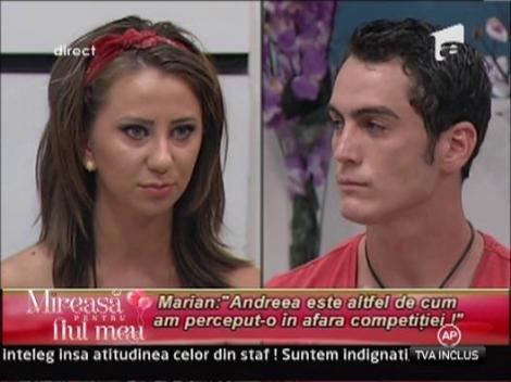 "Marian: ""Andreea este altfel de cum am perceput-o in afara competitie"""