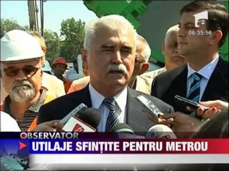 Preotii au sfintit utilajele performante care vor lucra la Magistrala 5 de metrou
