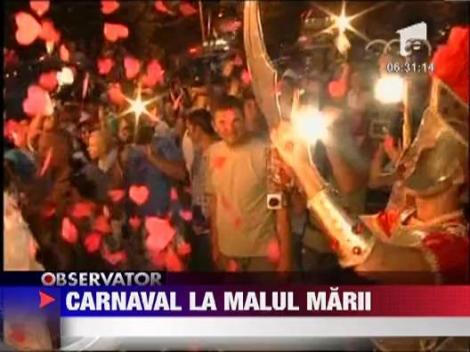 Radu Mazare, soldat roman la carnavalul din Mamaia