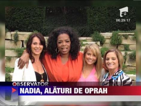 Nadia Comaneci, alaturi de celebra realizatoare tv Oprah Winfrey