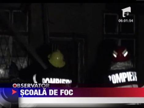 Scoala cuprinsa de flacari, la Cluj