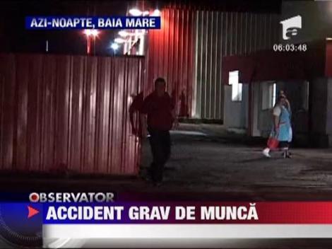 Grav accident de munca la o fabrica de mobila din Baia Mare